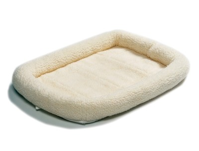 Midwest Quiet Time Bed - Natural Fleece - 36 in. x 23 in. (B.W1)