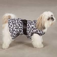 Snow Leopard Plush Ruffled Dress - XS (B.125)