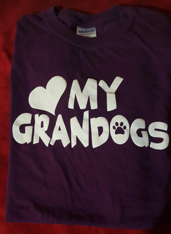 My Grandogs T-Shirt - LARGE - BLACK (B.127)