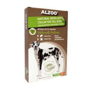 Alzoo Natural Repellent Flea and Tick Collar for Dogs Large Breed (12/18) (O.I3)