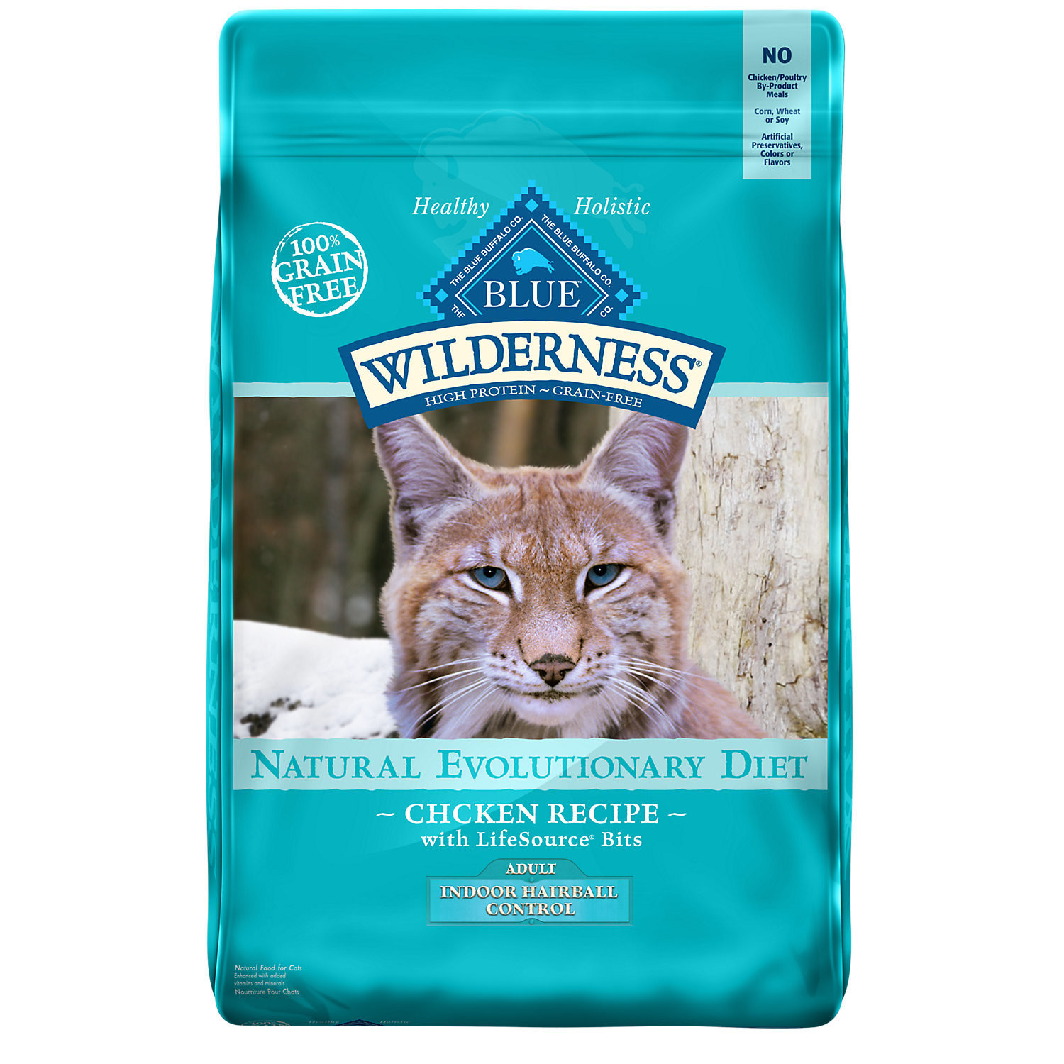 Blue Buffalo Wilderness High Protein Grain Free, Natural Adult Indoor Control Dry Cat 5 lbs (9/18) (A.K1)