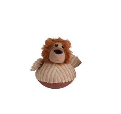 Chomper Cord O'roy Wobbling Lion Dog Toy - LION (B.A17)