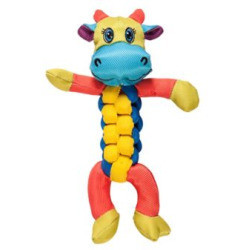 Chomper Twister Squeak and Tug Dog Toy - HIPPO**NO HIPPO PHOTO AVAILABLE** (B.A6)
