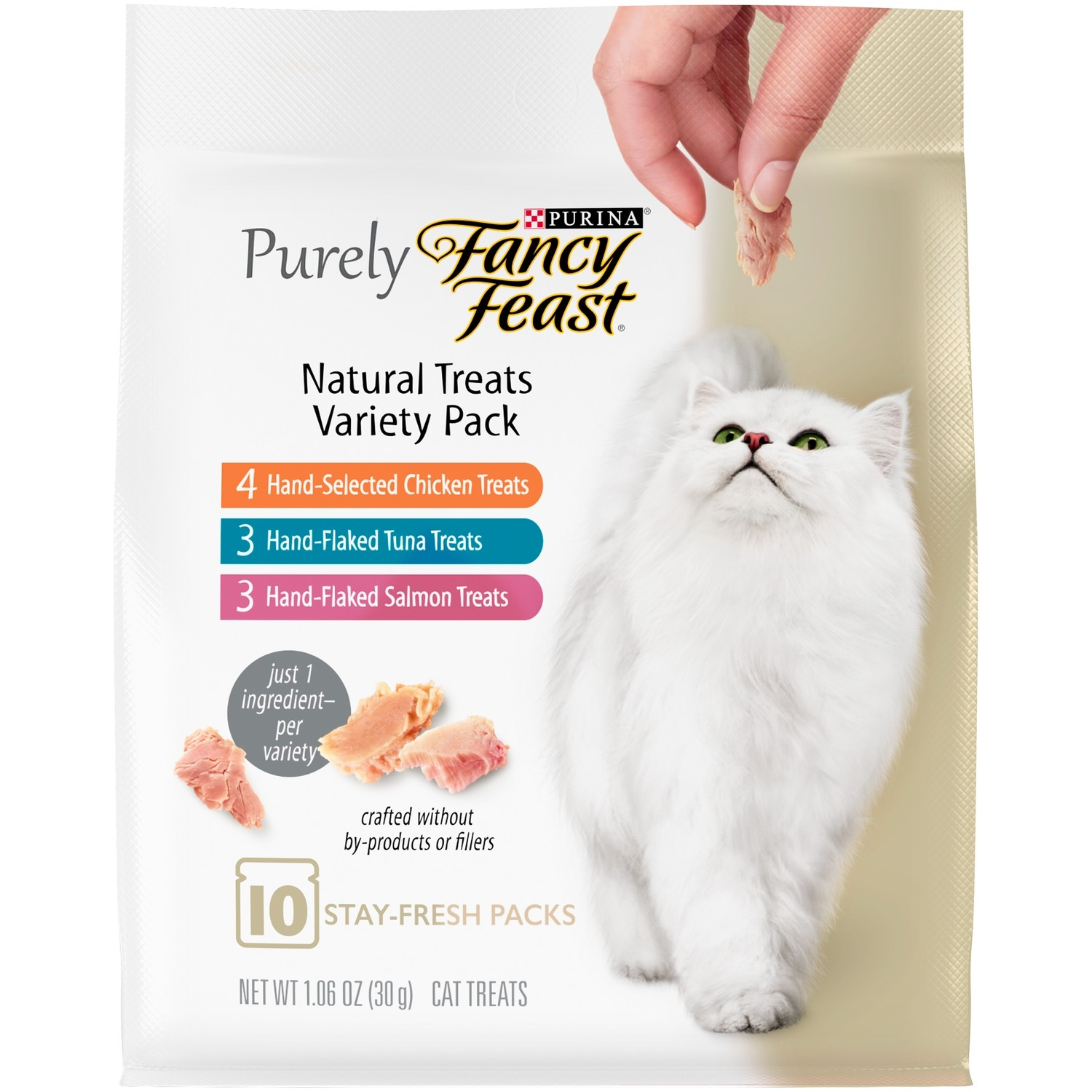 Fancy Feast Purely Natural Treats Variety Pack Cat Treats - 1.06 oz (3/19) (T.E12)