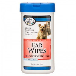 Four Paws Ear Wipes for Dogs and Cats, 30 Count (2/18) (O.AC1)