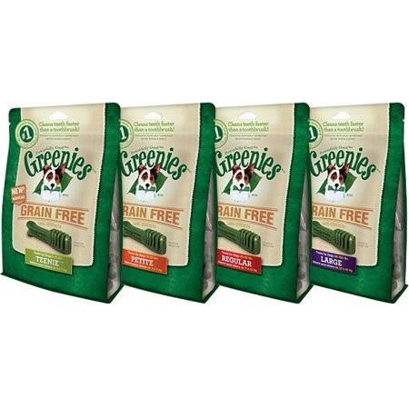 GREENIES Grain Free Treat-Pak TEENIE 96 Treats (27 oz) (3/19) (T.E12/DT)