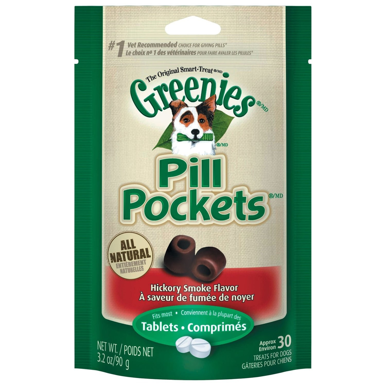 Greenies Pill Pockets Hickory Smoke Beef 3.2 oz. (7/16) (T.G4)