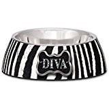 Loving Pets Diva Zebra Milano Bowl - SMALL (B.D11)