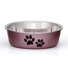 Loving Pets Metallic Bella Bowl Dog Bowl, Extra Large, 3 Quarts, Grape (B.D7)