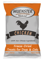 Muenster All Natural Freeze Dried Chicken Dog & Cat Snacks (3/18) (T.F11)