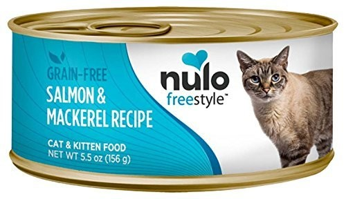 Nulo Grain Free Canned Wet Cat Food (salmon & Mackerel , 5.5 Oz Can (4/21)