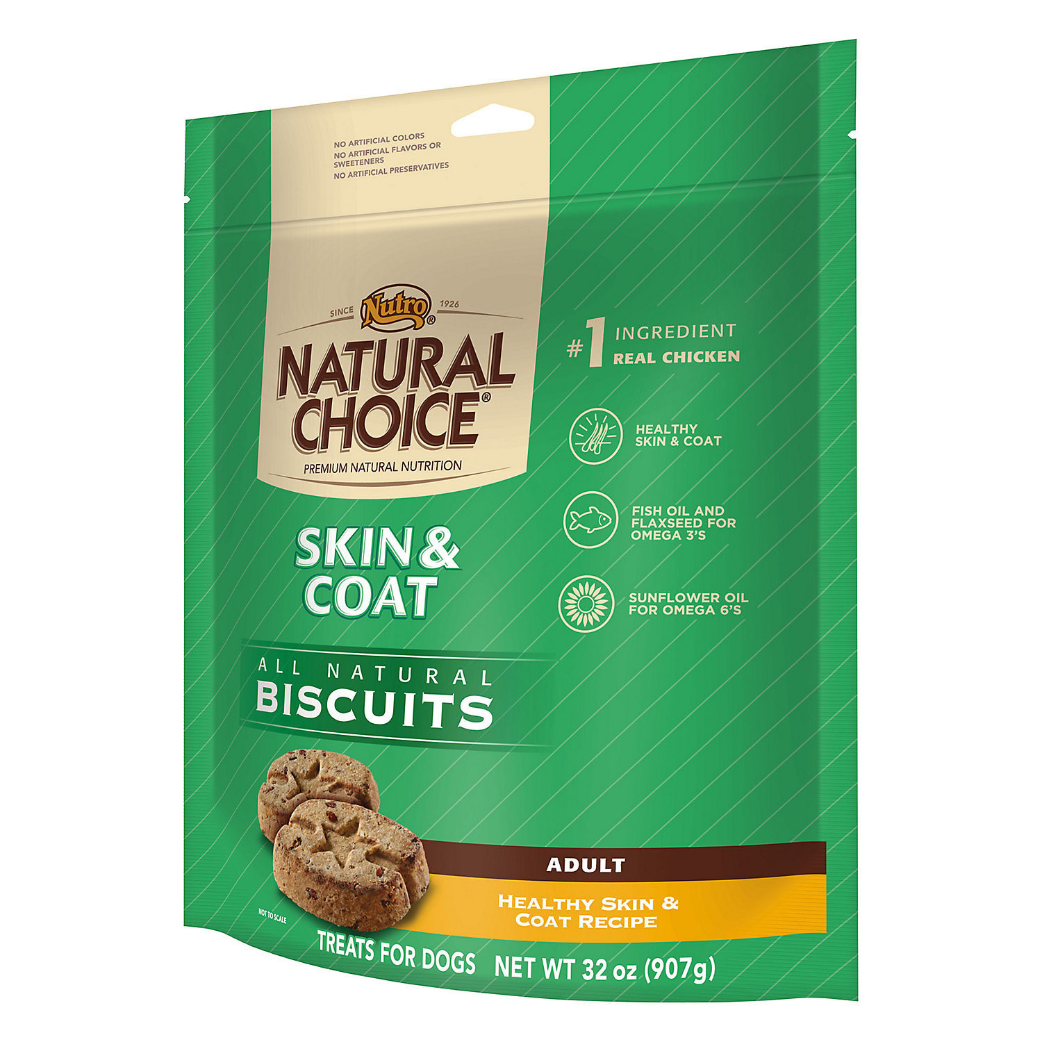 Nutro Natural Choice Healthy Skin & Coat Biscuit - Adult Dog (32 oz) (2/19) (T.A14)