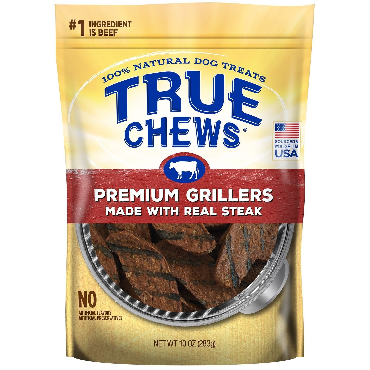 True Chews Premium Grillers Made with Real Steak Natural Dog Treats, 10 oz. (5/19) (T.G2/DT)