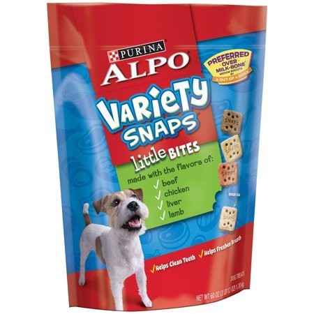 Variety Snaps Little Bites with Real Beef Chicken Liver & Lamb Flavors Dog Treat 60 oz (7/19) (A.R5)