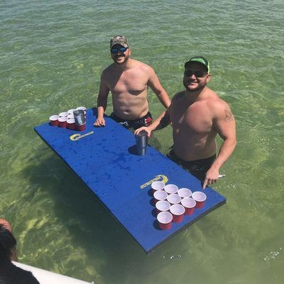 WavePad Single Beer Pong Water Raft