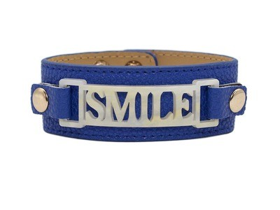Classic Cuff Blue Clearance with Smile Plaque