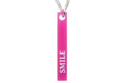 Custom Name, Word or Saying Vertical Bar Necklace