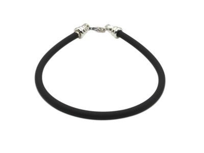 Black Rubber Cord Bracelet