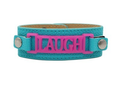 Classic Cuff Turquoise Clearance with Laugh Plaque