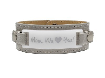 Personalized Cuff Bracelet with Message of Love