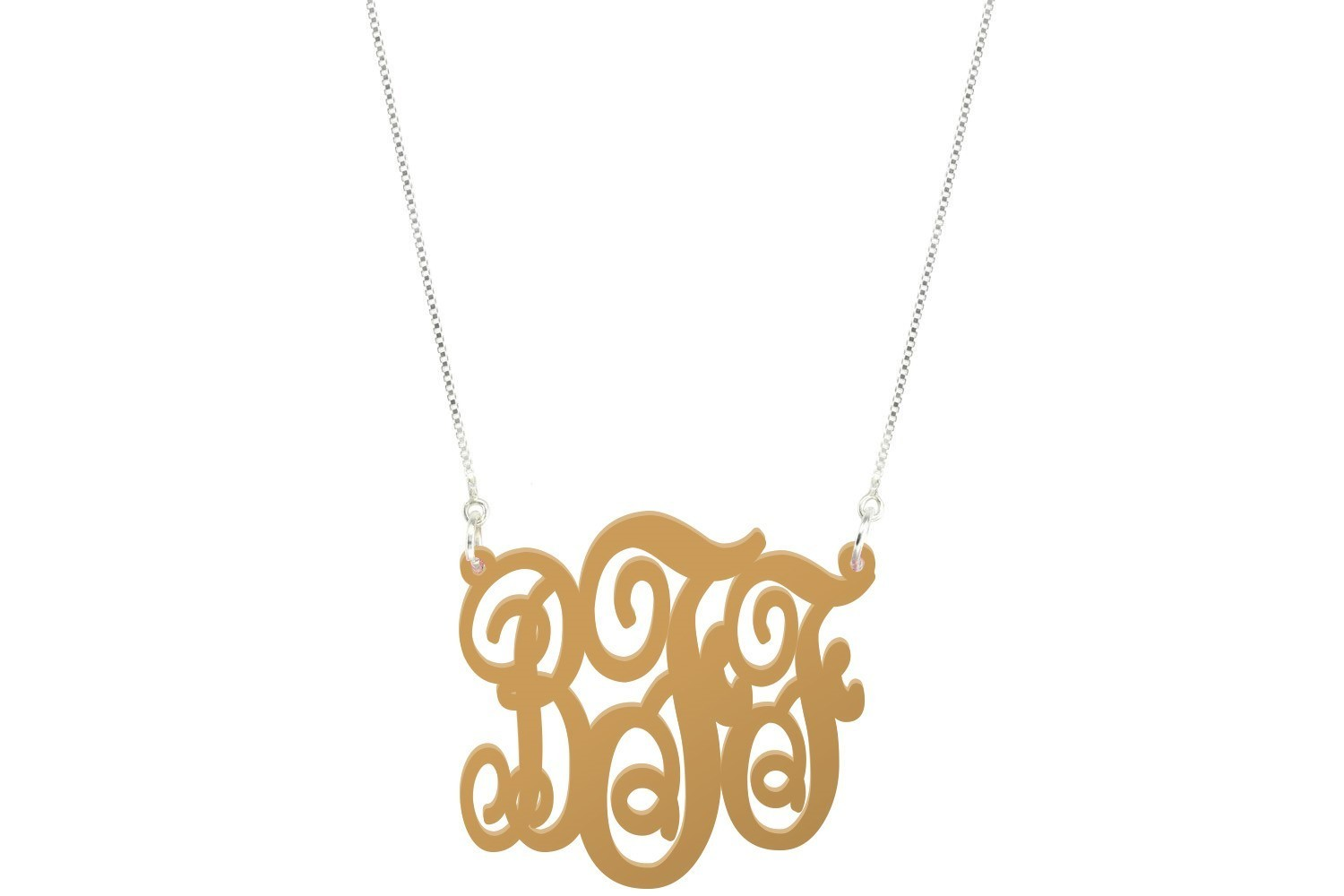 Fancy Script Monogram with Duo Necklace