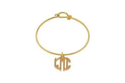Clean Block Monogram with Decorative Wire Bracelet