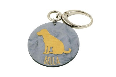 Dog Breed with Dog Name Key Clip