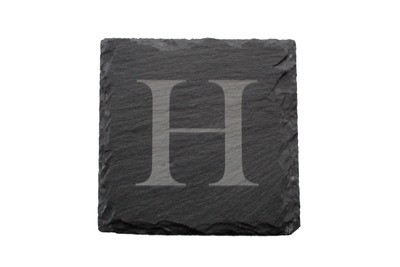 Custom Initial Slate Coaster Set