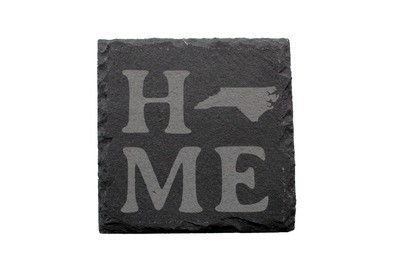 Home Customized w/State Slate Coaster Set