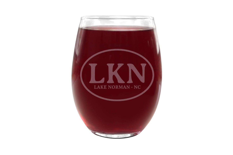 Custom Initials or Airport Code Stemless Wine Glasses