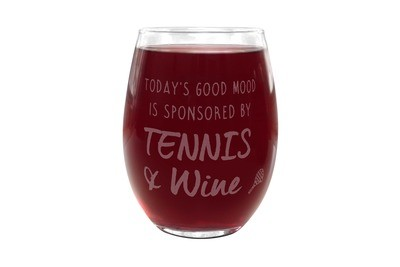 Engraved Stemless Wine Glass with Custom Saying