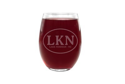 Personalized Plastic Wine Glass with Initials or Airport Code and City & State