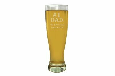 Father's Day Engraved Beer Glass