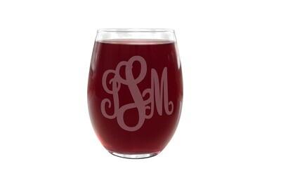 Monogram PLASTIC Wine Glass