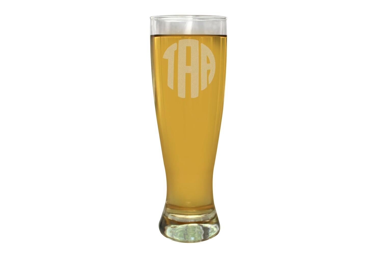 Monogrammed Beer Glass