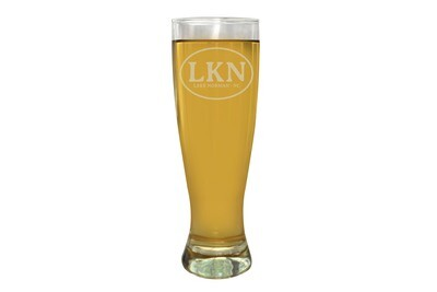 Custom Beer Glass with Initials or Airport Code and City & State