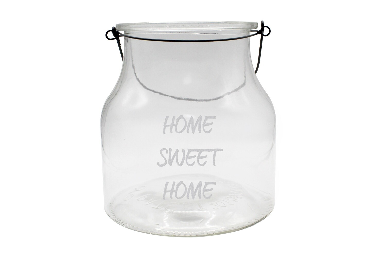 Personalized Clear Glass Lantern w/Saying