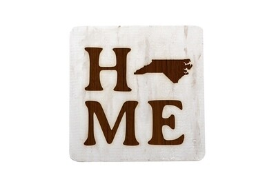 Home Customized w/State Hand-Painted Wood Coaster Set