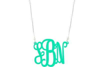 Basic Script Monogram with Duo Necklace