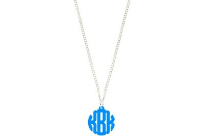 Clean Block Monogram with Chain Necklace