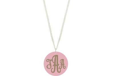 Traditional Monogram with Chain Necklace