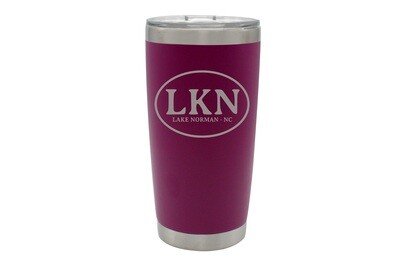 Custom Insulated Travel Tumbler with Initials and City & State 20oz