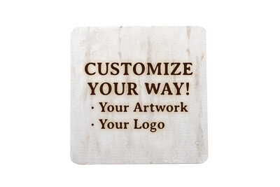 Customize Your Way Hand-Painted Wood Coaster Set