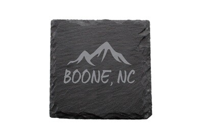 Mountains Customized with City & State Slate Coaster Set