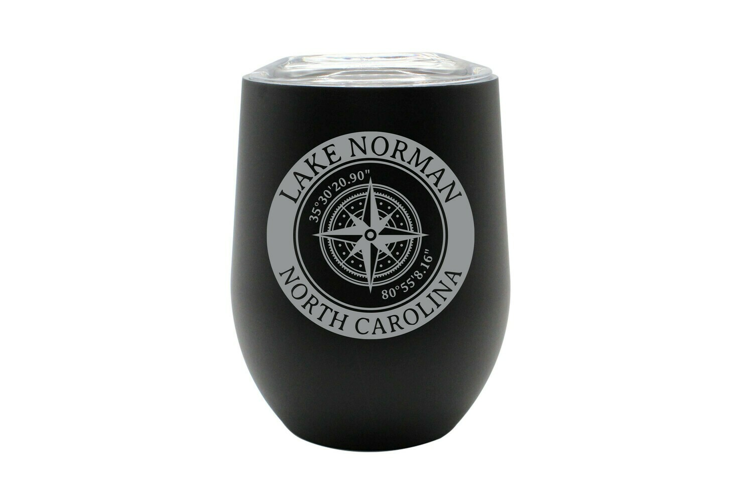 Custom Location with Latitude & Longitude in Circle Insulated Tumbler
