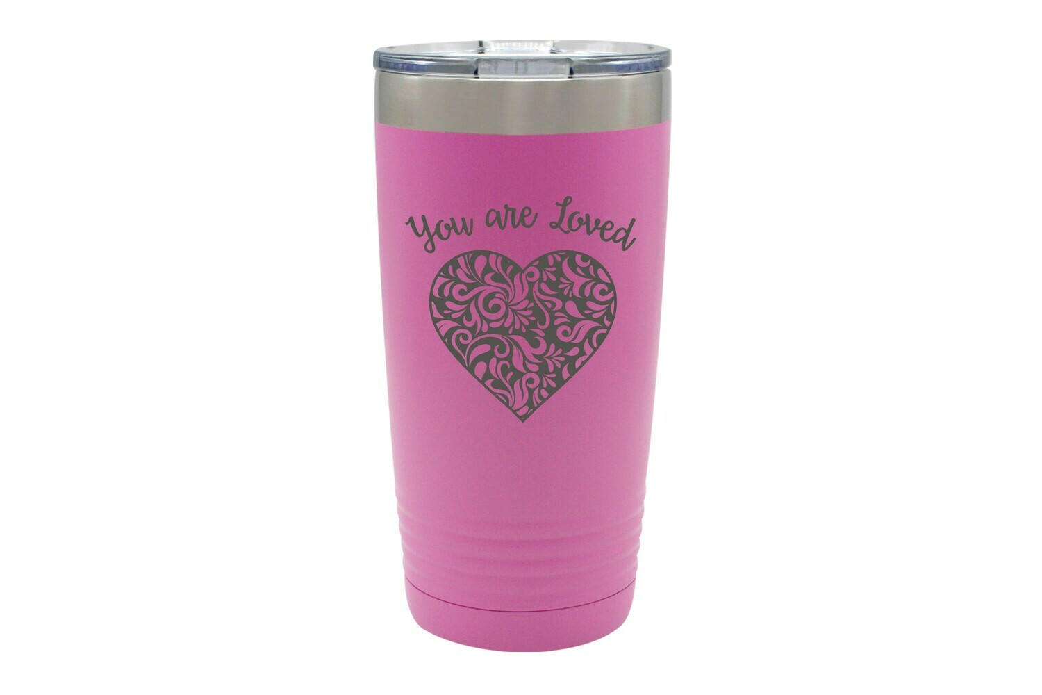 You Are Loved w/Heart Insulated Wine Tumbler