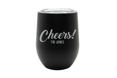 Custom Cheers w/Name Insulated Tumbler