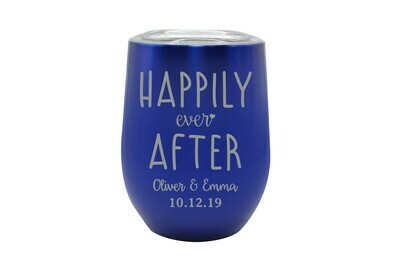 Custom Happily Ever After with Names & Date Insulated Tumbler