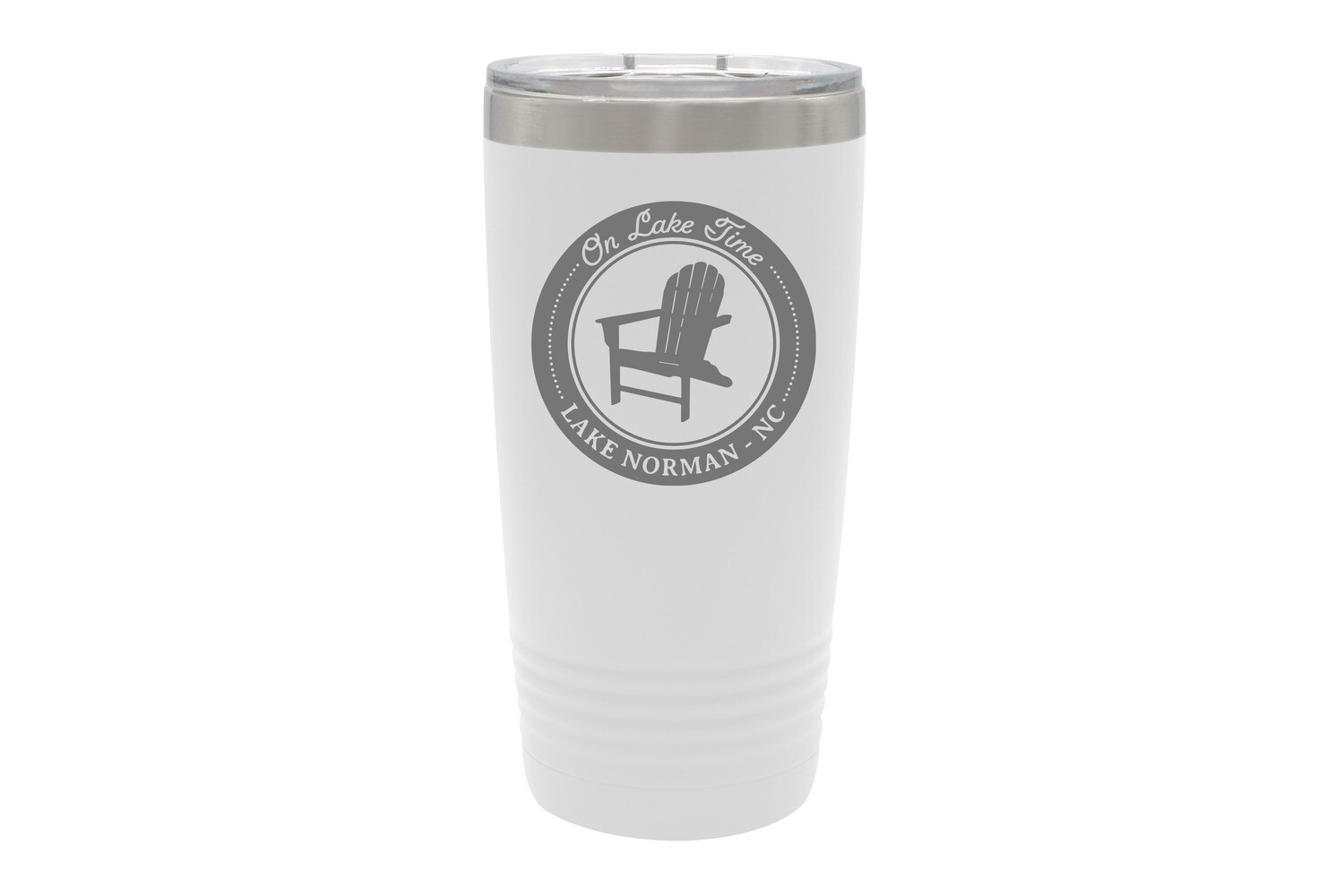 On Lake Time w/Chair & Customized Location Insulated Tumbler 20 oz