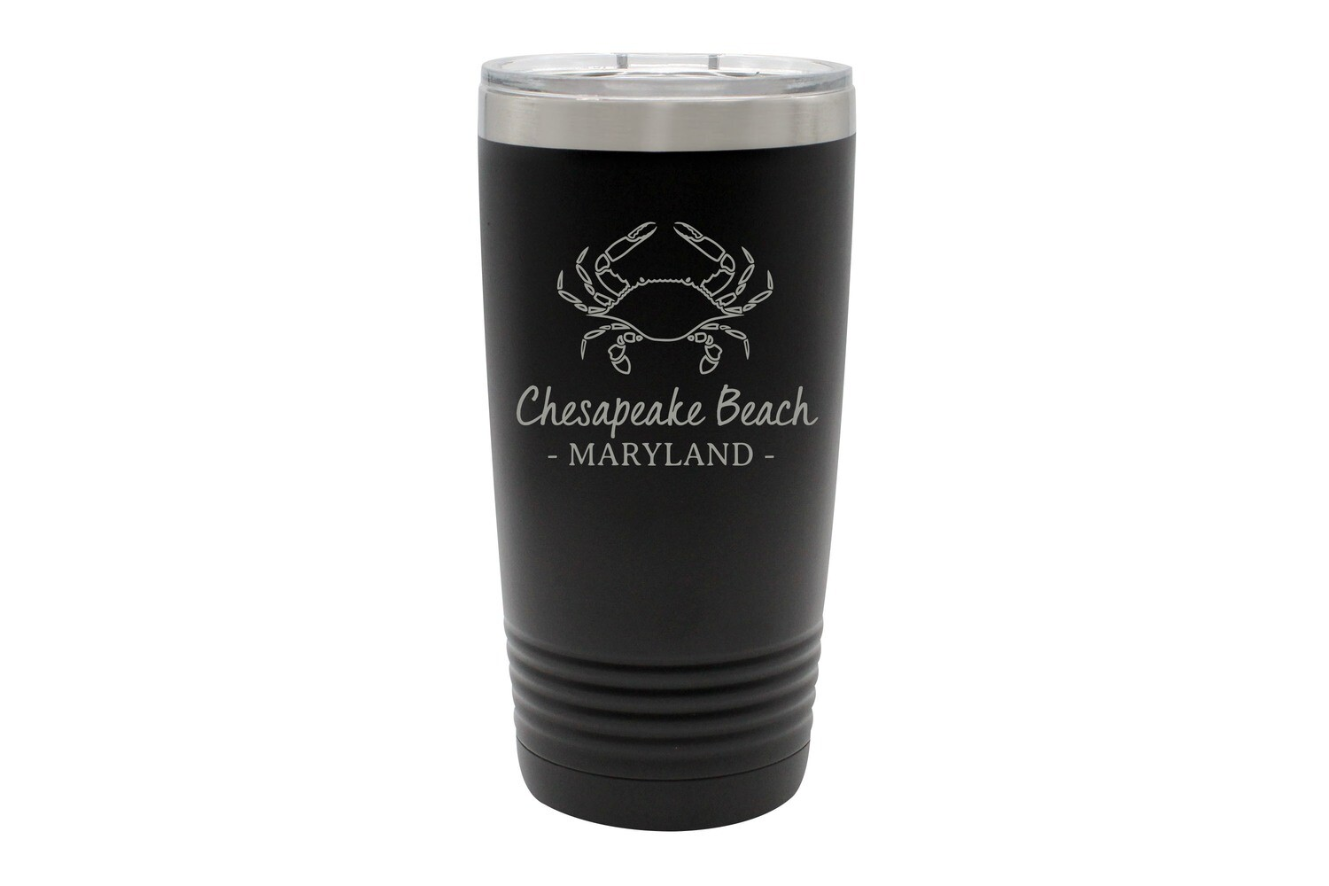 Crab Outline & Customized Location Insulated Tumbler 20 oz